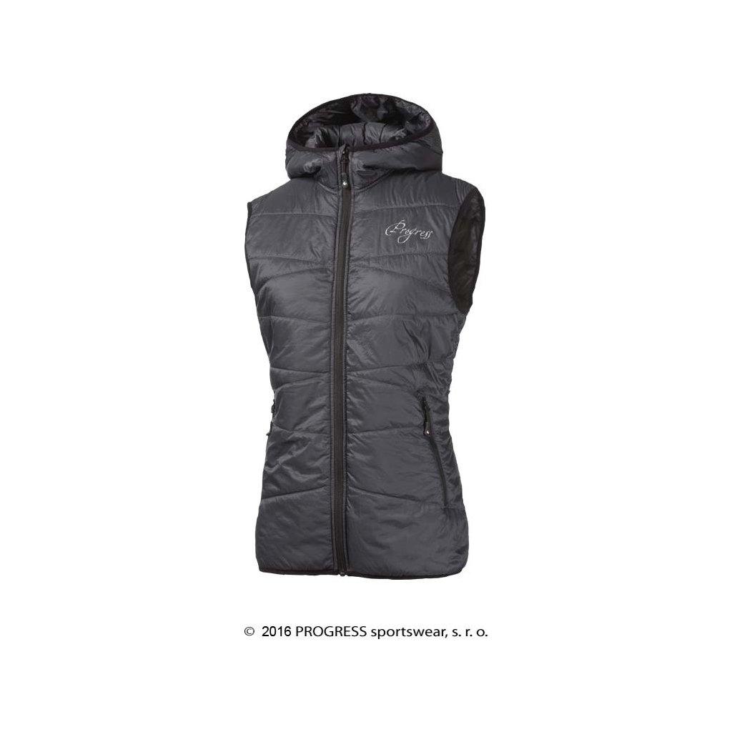 Dámská zateplená vesta s kapucí PROGRESS Miri  + Sleva 5% - zadej v košíku kód: SLEVA5