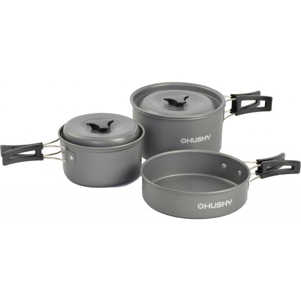 Univerzální set nádobí HUSKY  Tendo antracit  + Sleva 5% - zadej v košíku kód: SLEVA5