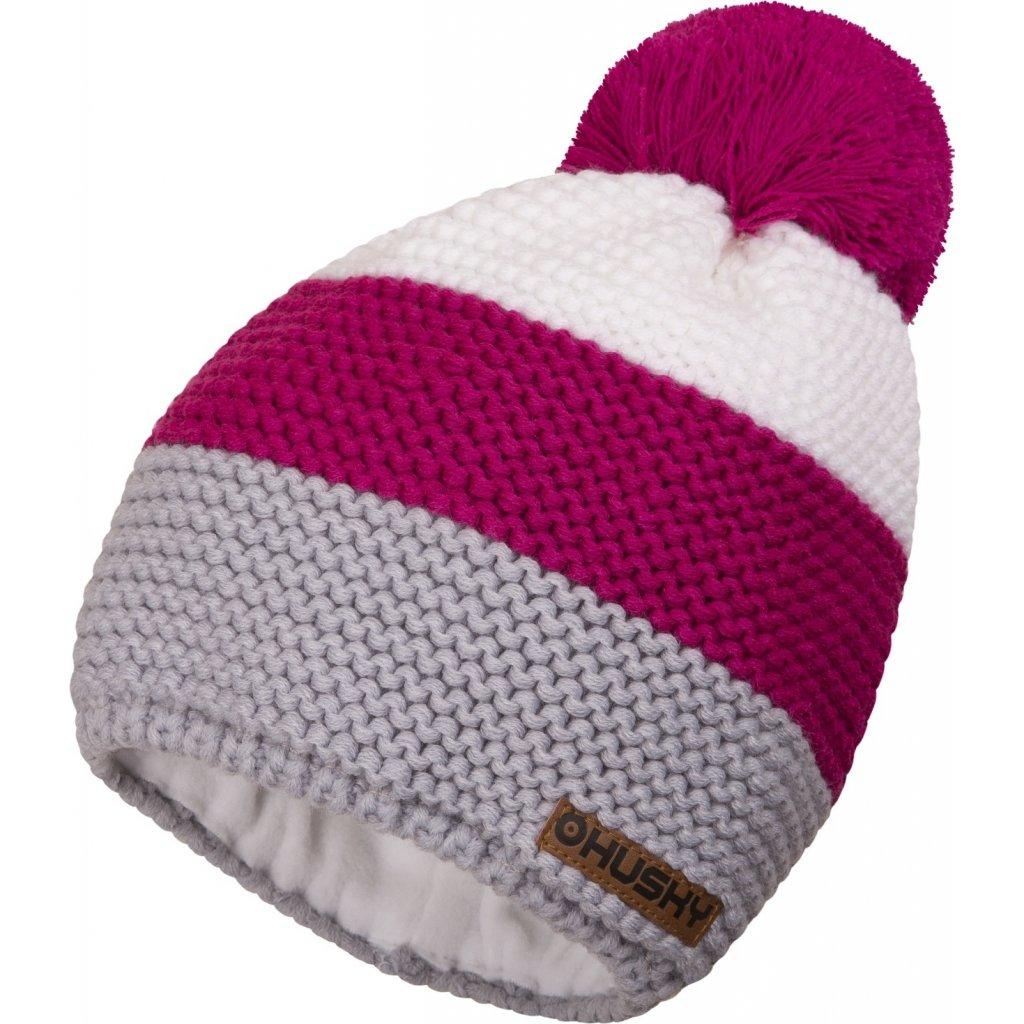 Čepice HUSKY Hat 4 růžová  + Sleva 5% - zadej v košíku kód: SLEVA5