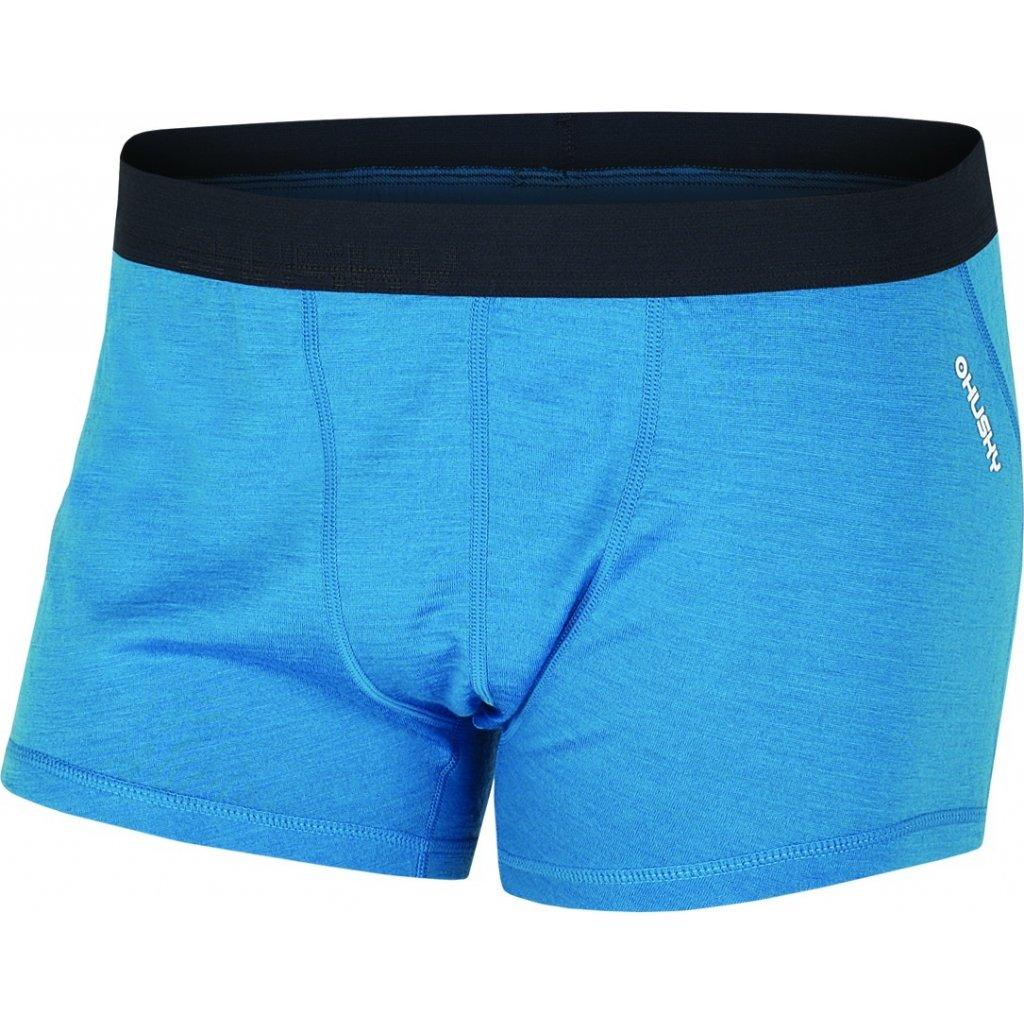Pánské merino boxerky HUSKY modrá  + Sleva 5% - zadej v košíku kód: SLEVA5