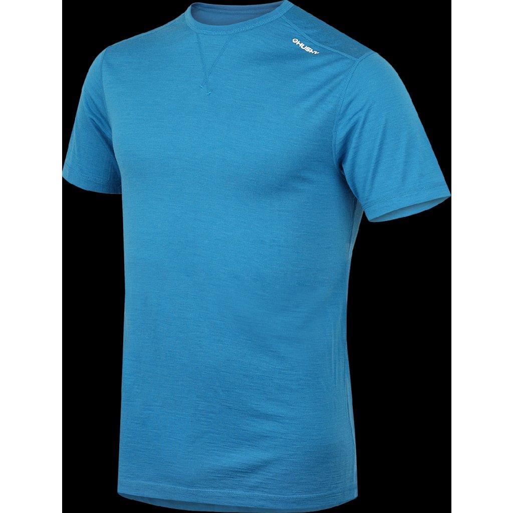Pánské merino krátké triko HUSKY modrá  + Sleva 5% - zadej v košíku kód: SLEVA5