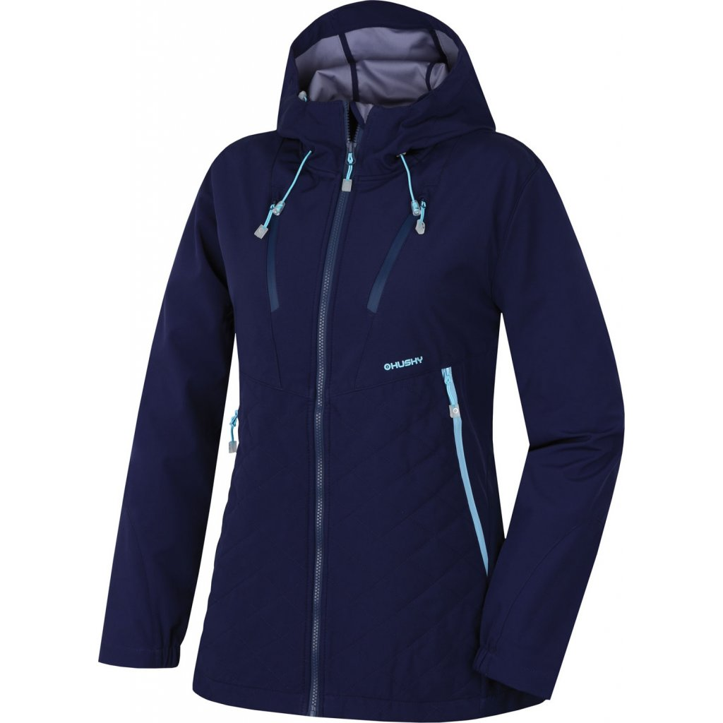 Dámská softshellová bunda HUSKY Salex L modrá  + Sleva 5% - zadej v košíku kód: SLEVA5