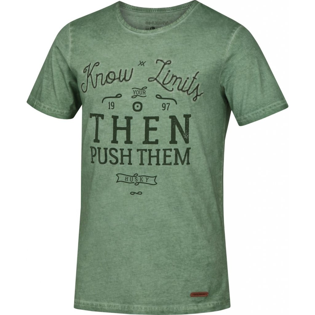 Pánské triko HUSKY  Tempu M zelená  + Sleva 5% - zadej v košíku kód: SLEVA5