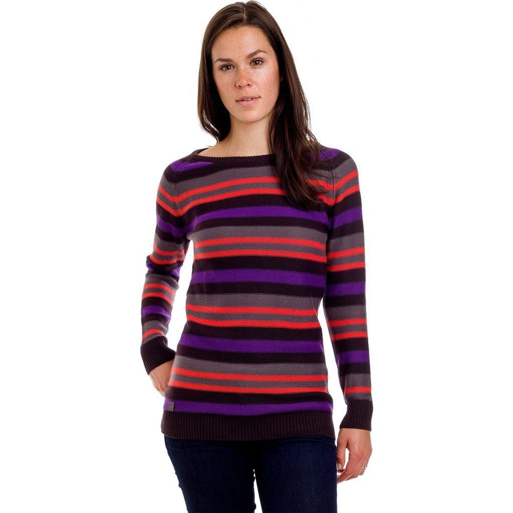 Dámský svetr WOOX Stripy Ladies´ Jumper Black  + Sleva 5% - zadej v košíku kód: SLEVA5