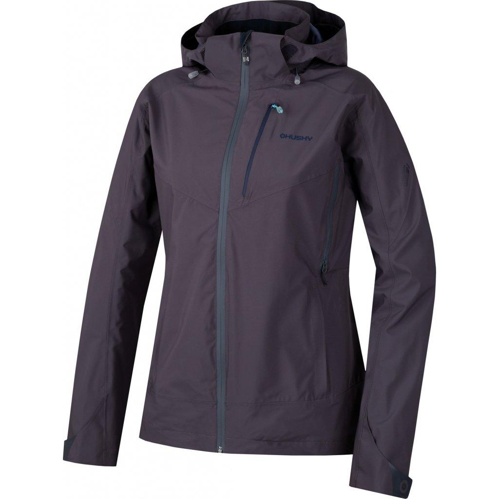 Dámská nepromokavá outdoorová bunda HUSKY Nally L šedofialová
