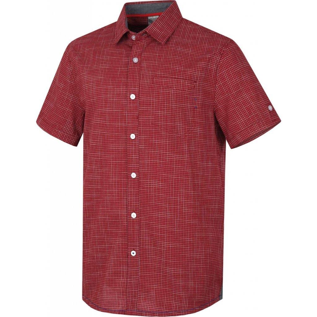 Pánská košile HUSKY  Grimy M tm. červená
