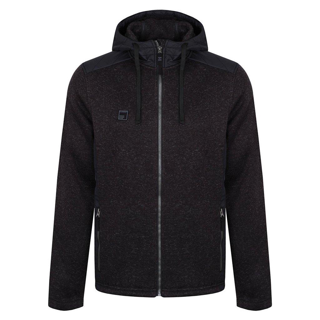 Pánský sportovní svetr s kapucí LOAP Garp černá