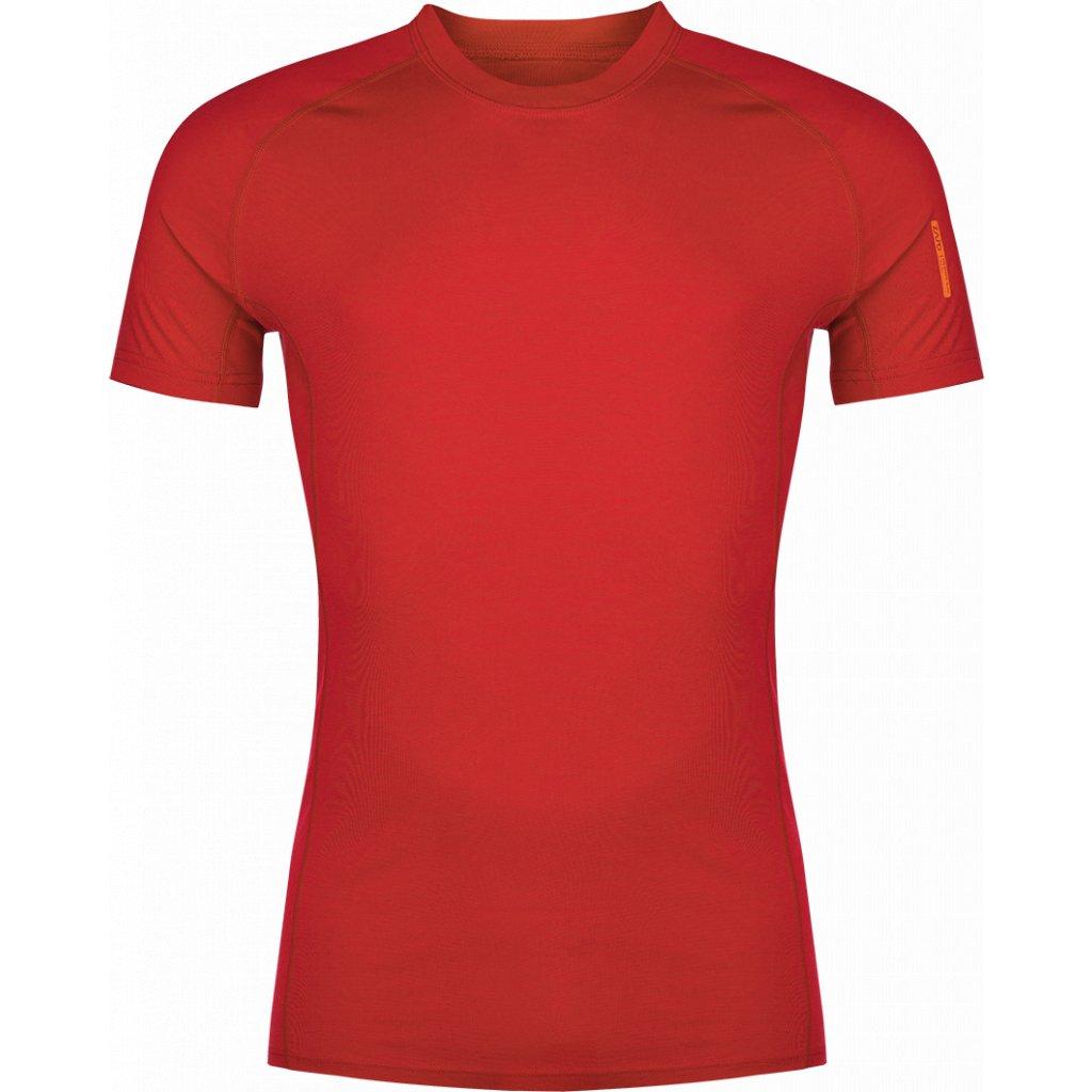 Pánské tričko ZAJO Bjorn Merino Tshirt SS rudá