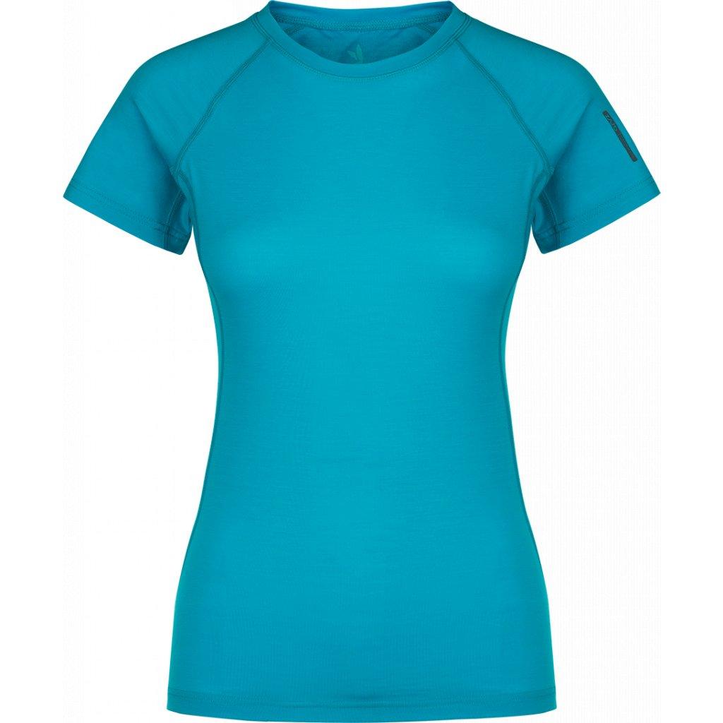 9be7a7acaac Dámské tričko ZAJO Elsa Merino W Tshirt SS modrá