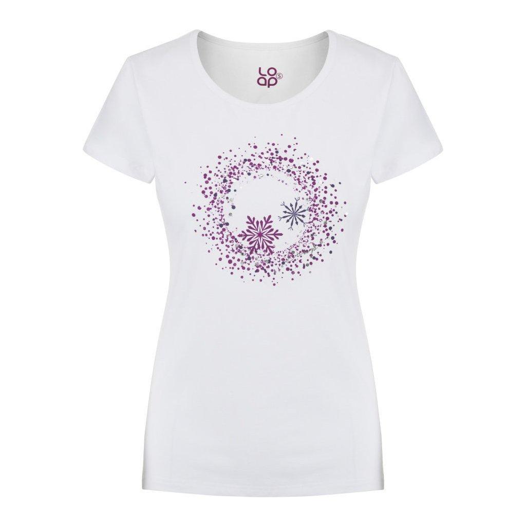 Dámské triko LOAP Anya krátký rukáv bílá