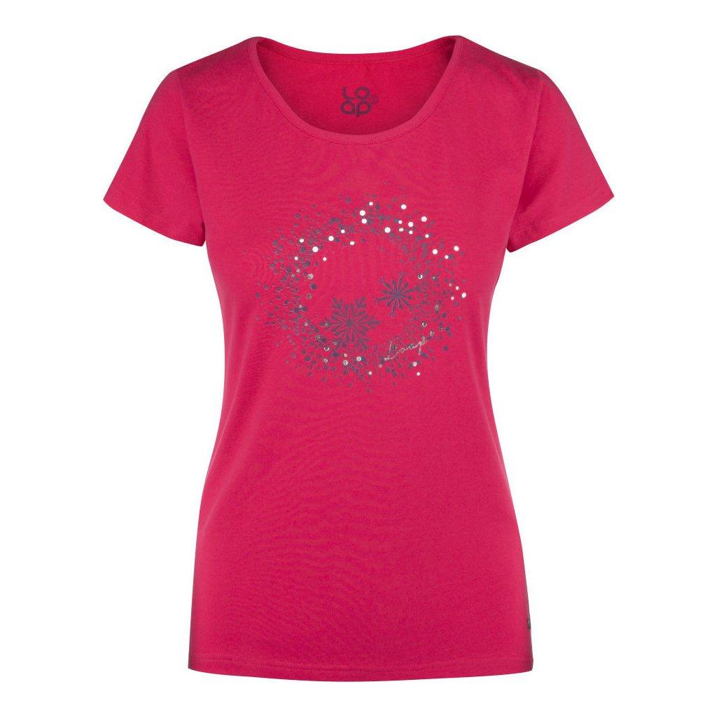 Dámské triko LOAP Anya s krátkým rukávem růžová