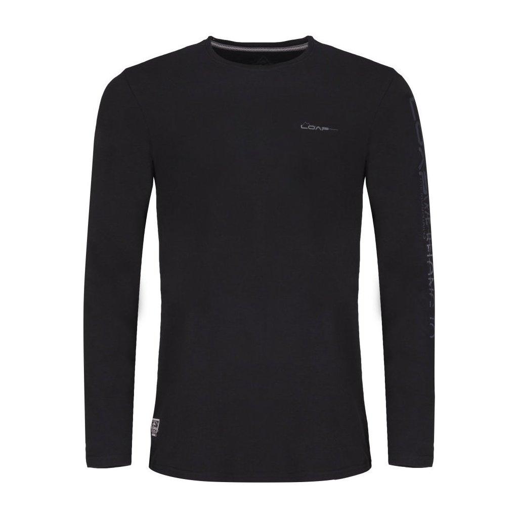 Pánské triko LOAP Bason s dlouhým rukávem černá
