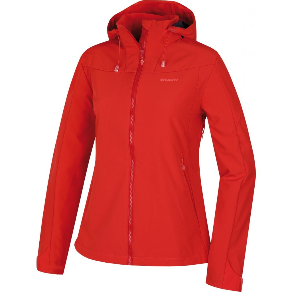 Dámská softshellová bunda HUSKY Sahony L jemná červená
