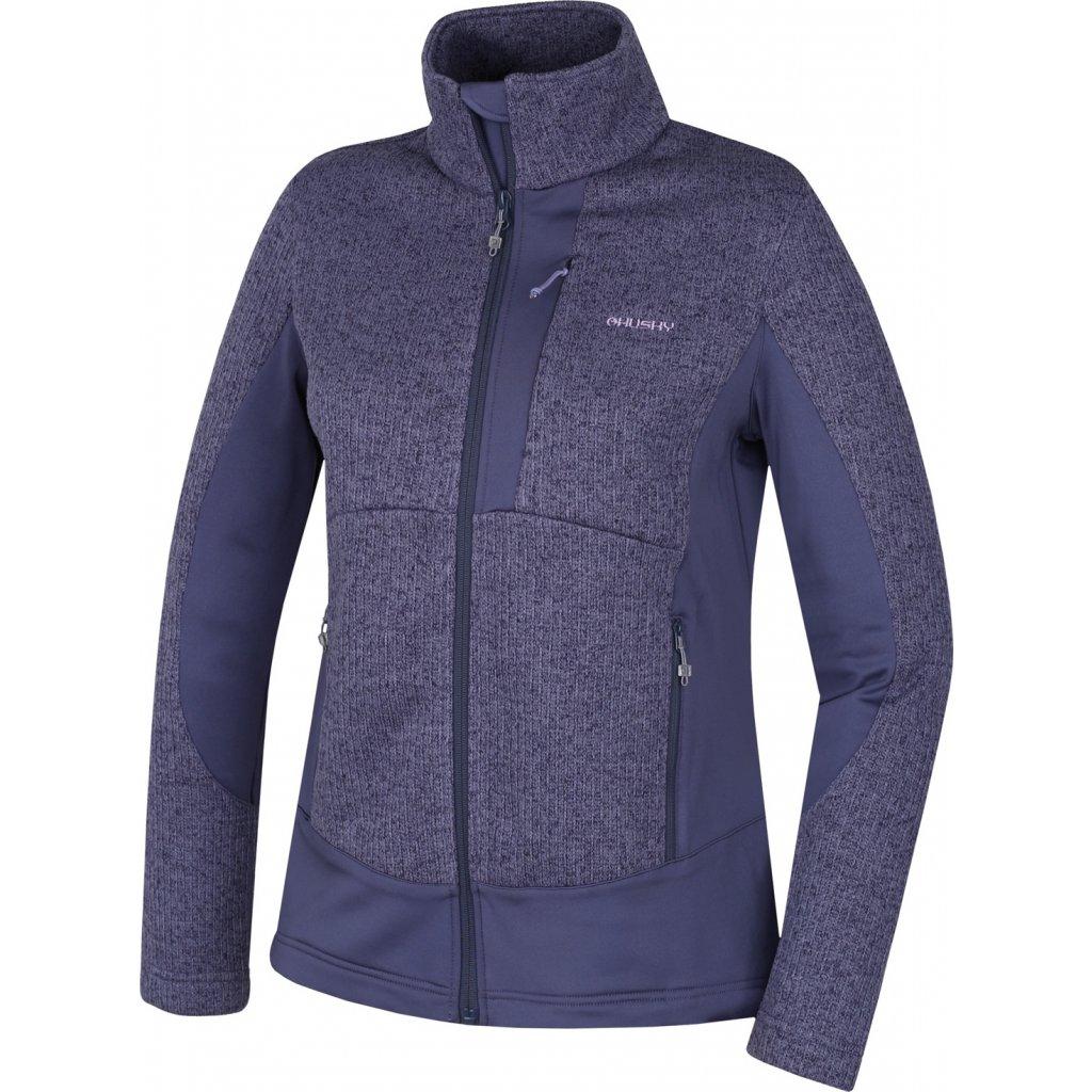 Dámská fleecová bunda HUSKY  Alan L modrofialová