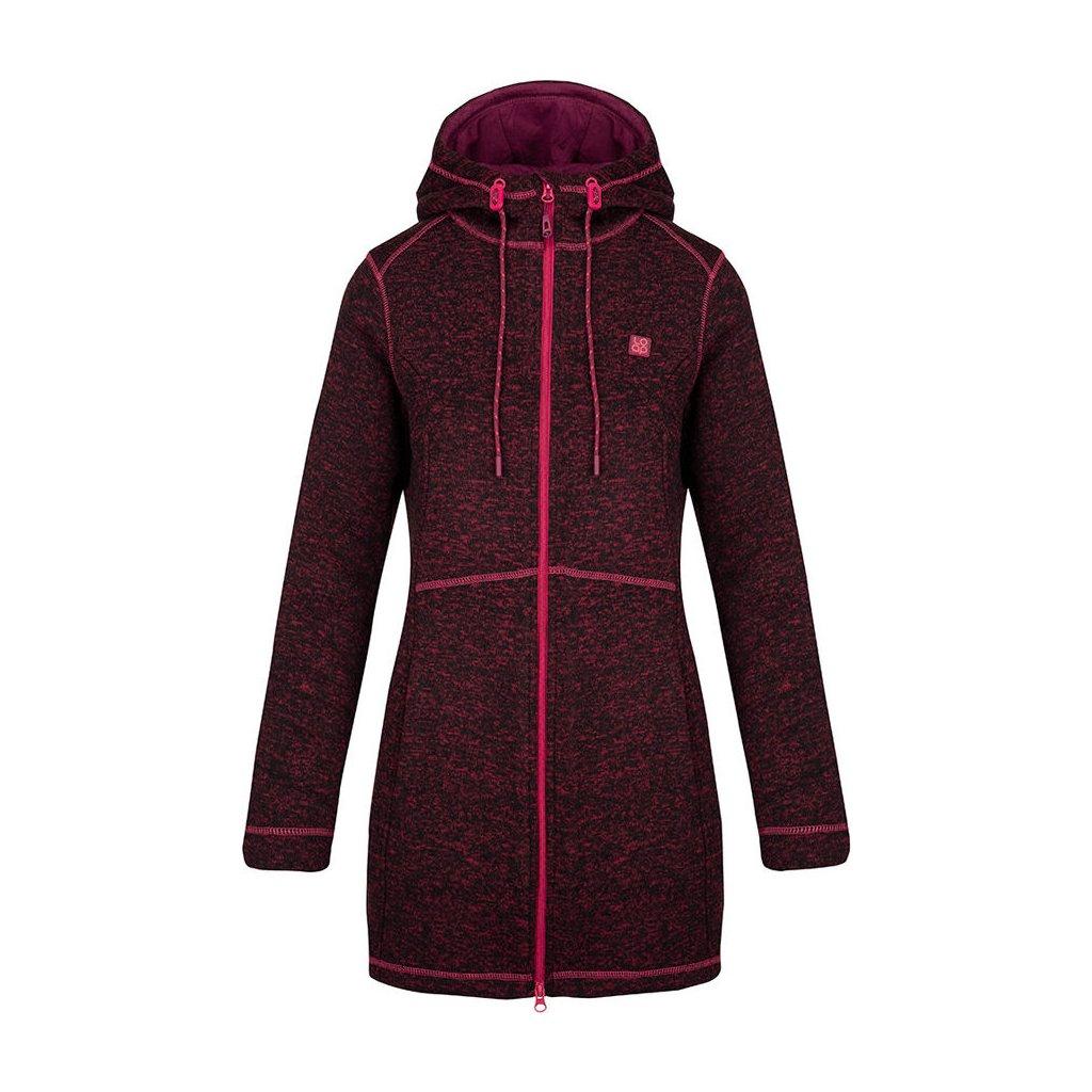 Dámský svetr LOAP Grisel s kapucí fialová