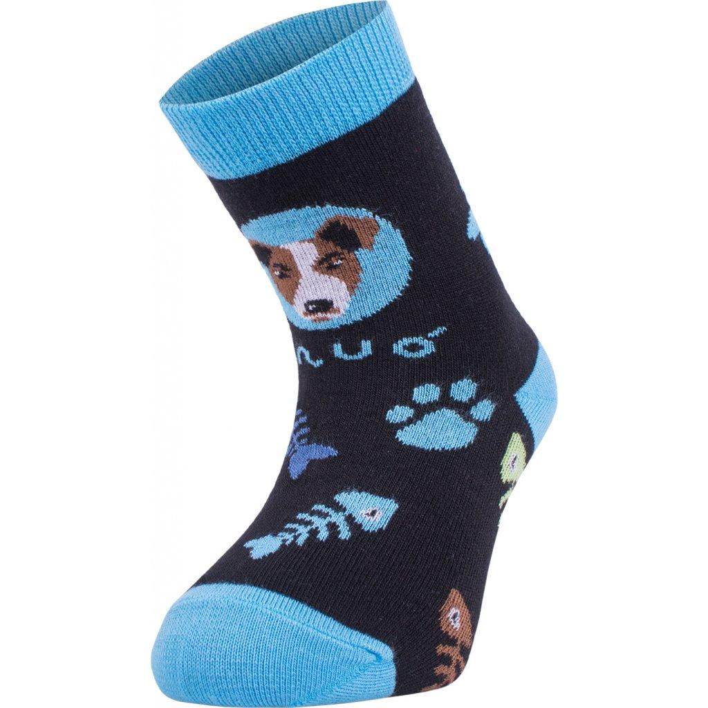 Bambusové ponožky UNUO Pes tyrkysové