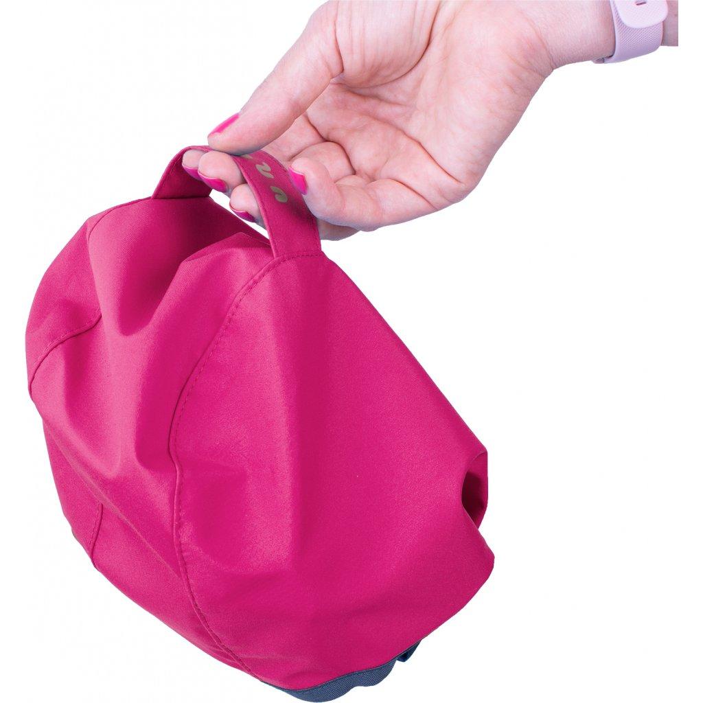 Dětská softshellová bunda s fleecem UNUO New květinky fuchsiová ( NEW Unuo softshell jacket printed)