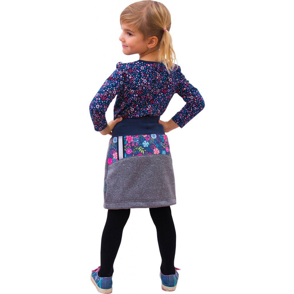 Dětská softshellová sukně UNUO s fleecem (Softshell kids skirt)