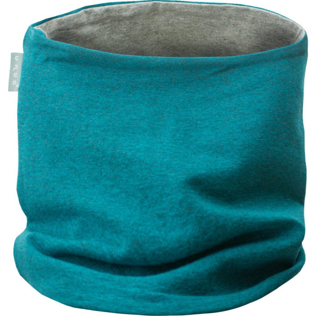Dětský nákrčník UNUO UNI Aqua melír (Neck tube aqua)