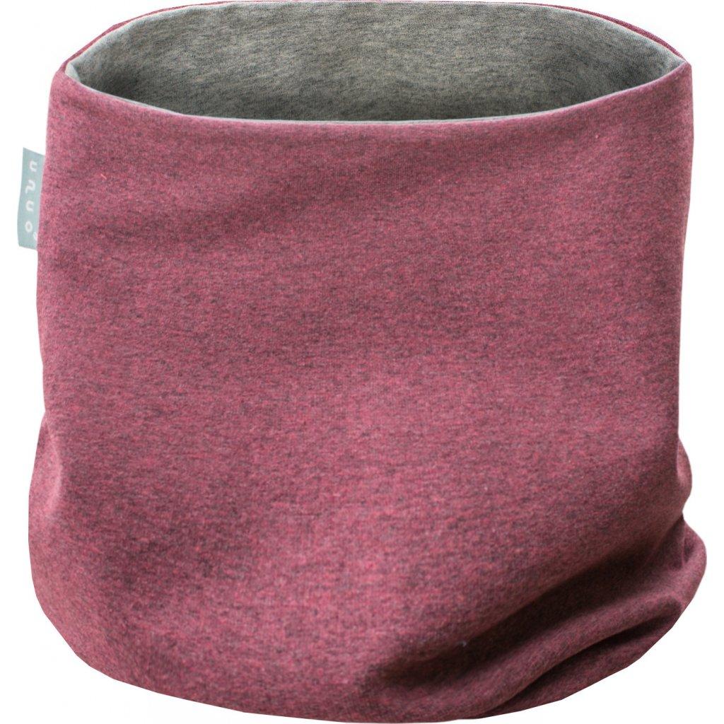 Dětský nákrčník UNUO UNI Růžový melír (Neck tube pink)