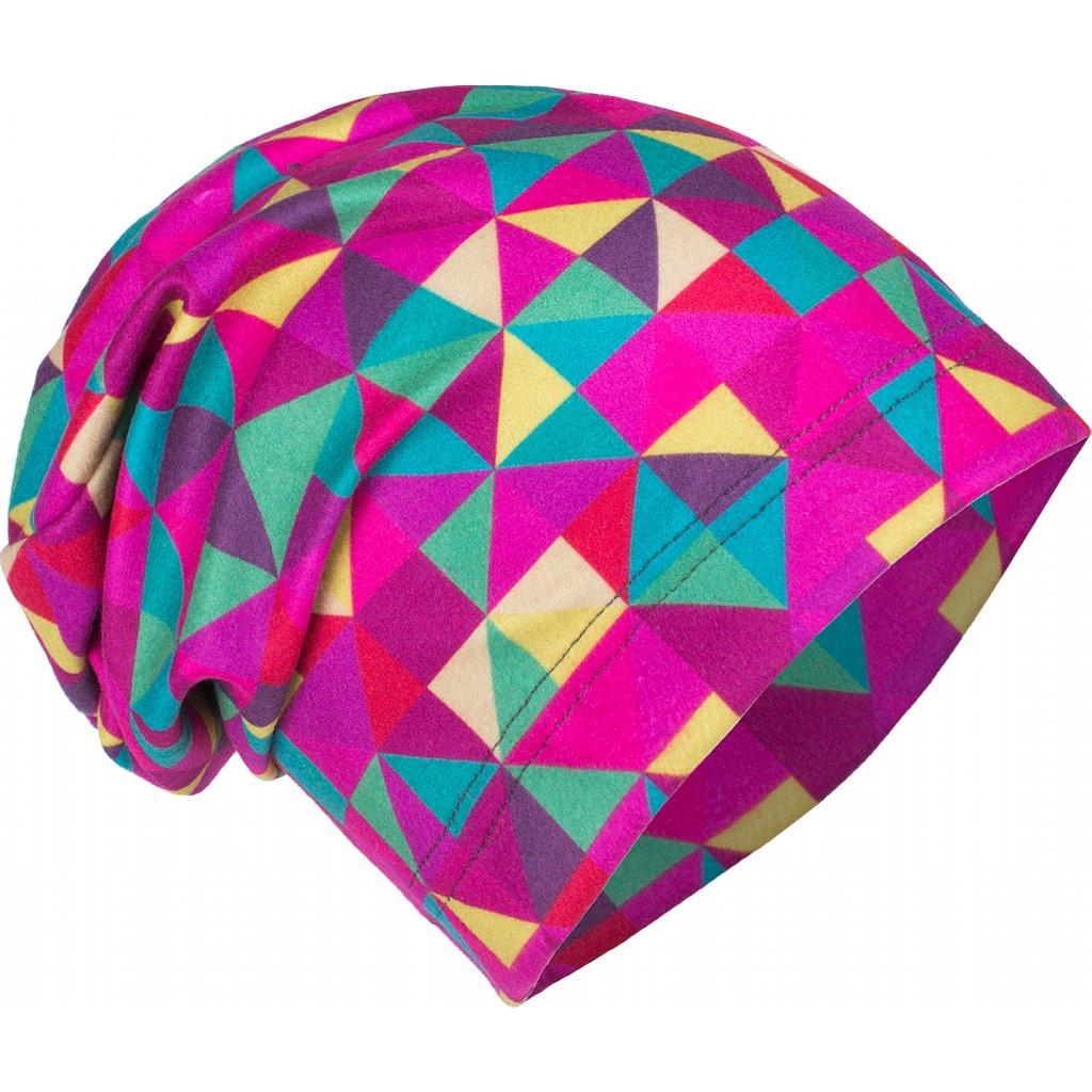 Dětská fleecová čepice UNUO Triangl holčičí