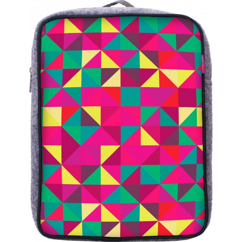 251f56d8dfe Dětský batoh UNUO Triangl růžový