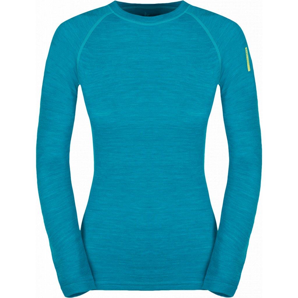 Dámslé termo tričko ZAJO Nora Merino W T-shirt LS modrá