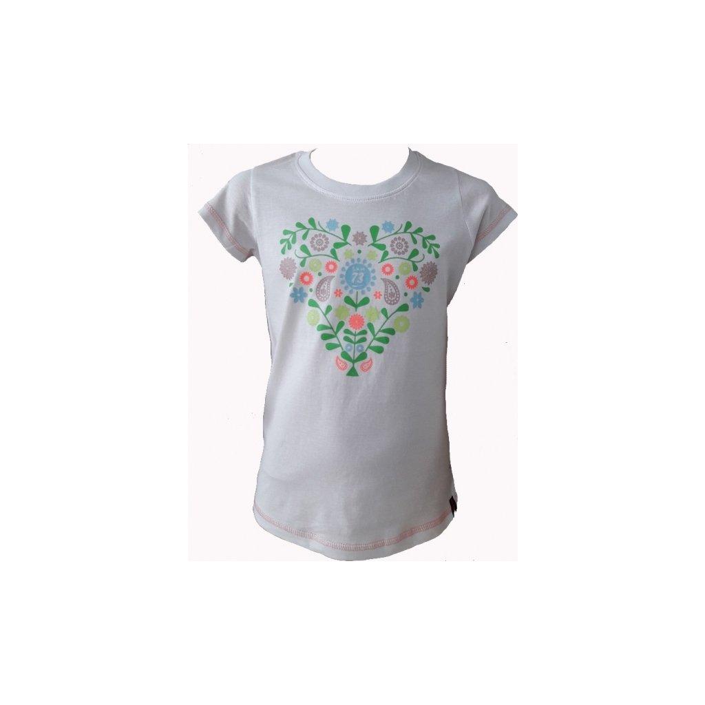 Dívčí triko SAM 73 bílá