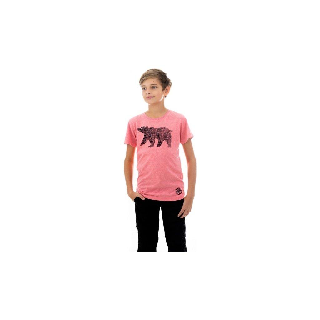 Chlapecké triko SAM 73 s krátkým rukávem Lososově růžová