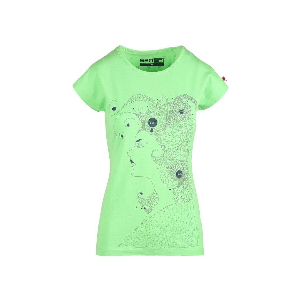 Dámské triko SAM 73 zelená jasná