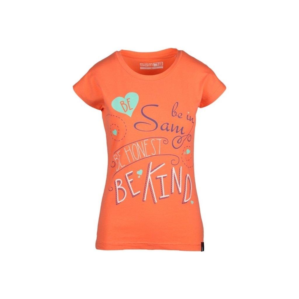 Dámské triko bez rukávů SAM 73 oranžová
