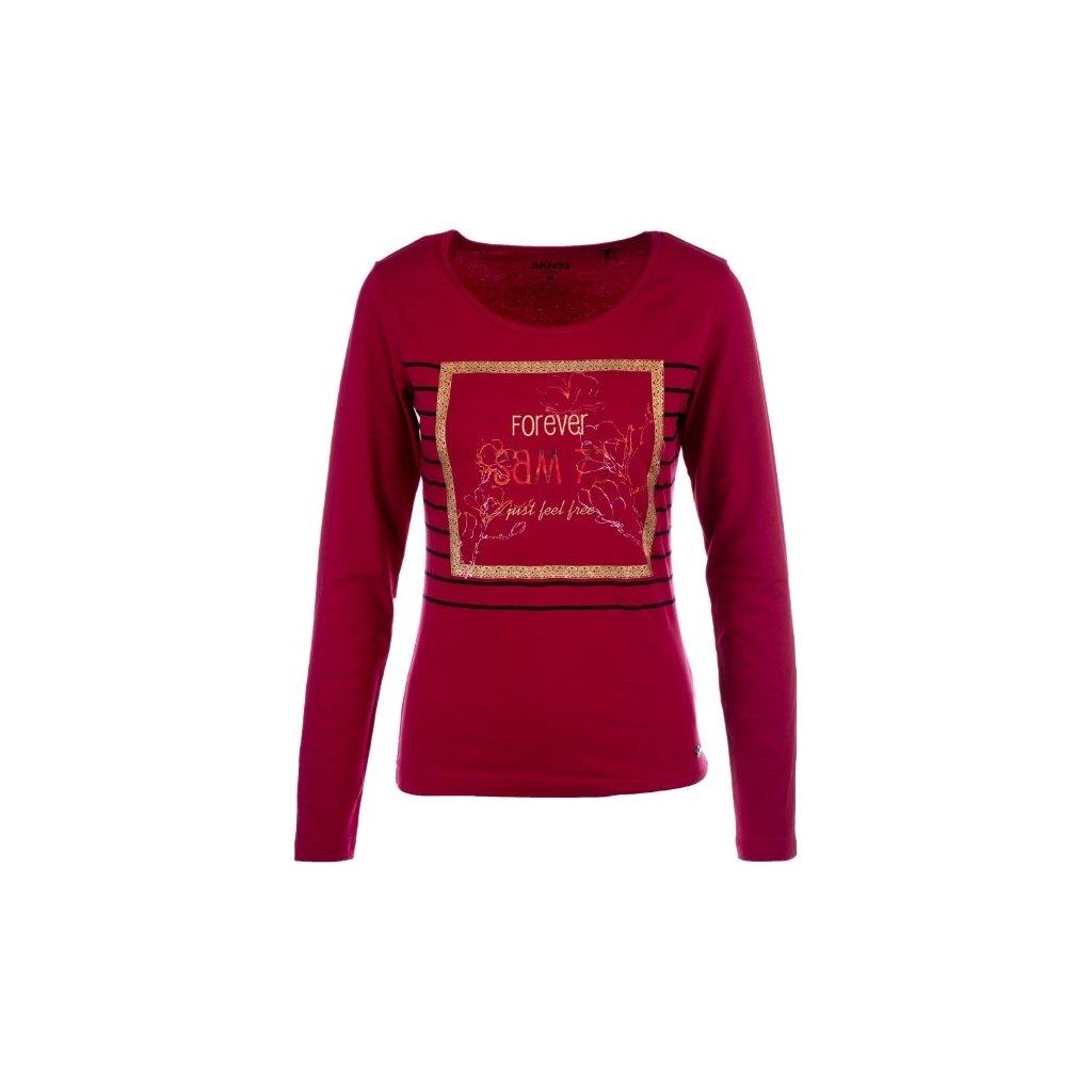Dámské triko s dlouhým rukávem SAM 73 růžová tmavá