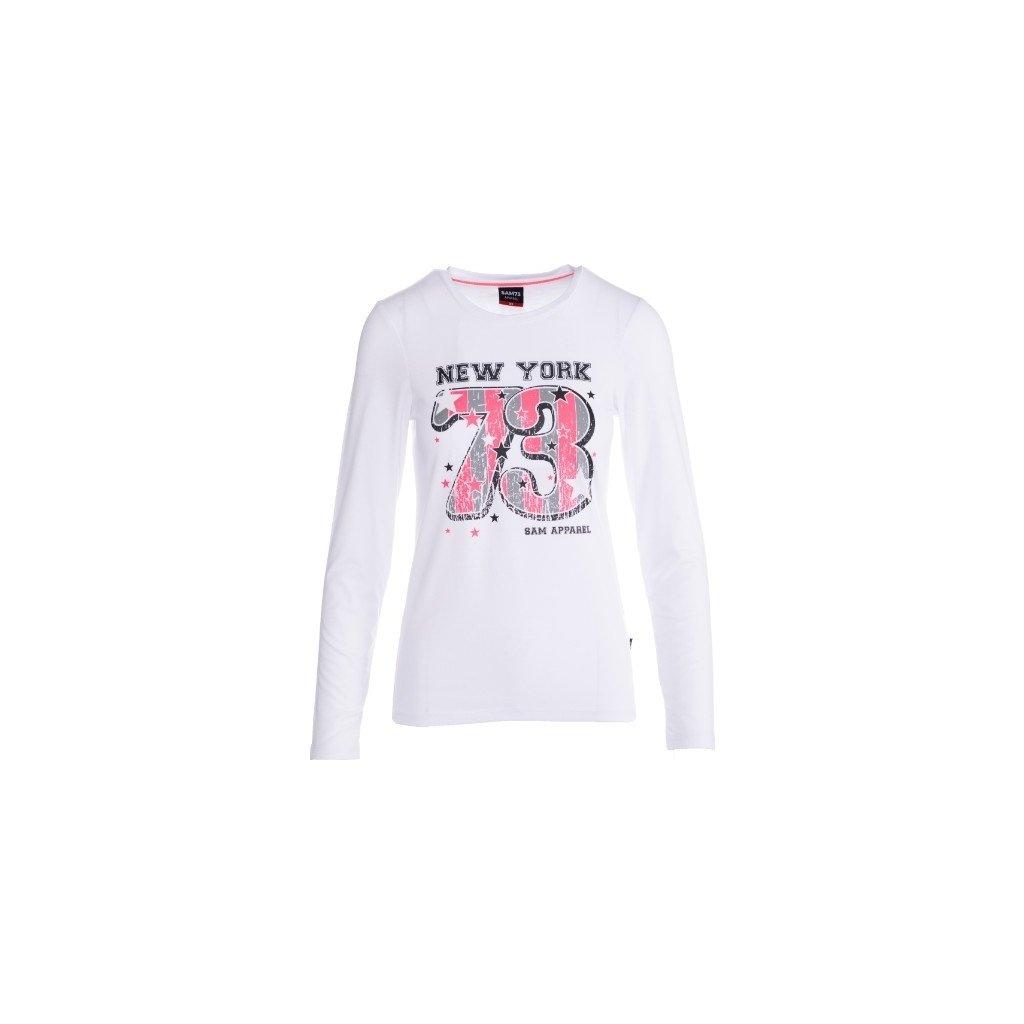 Dámské triko s dlouhým rukávem SAM 73 bílá