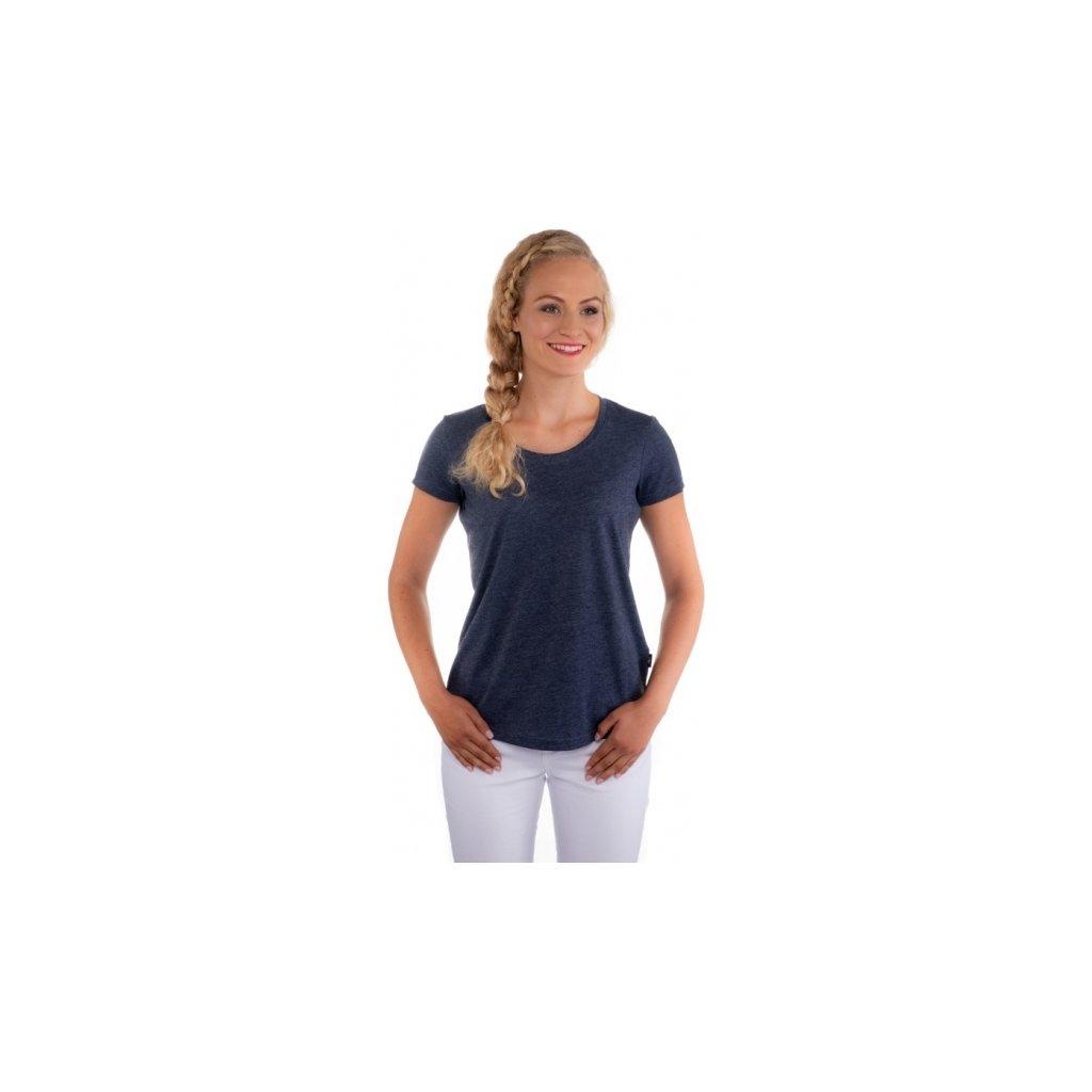 Dámské triko s krátkým rukávem SAM 73 modrá tmavá