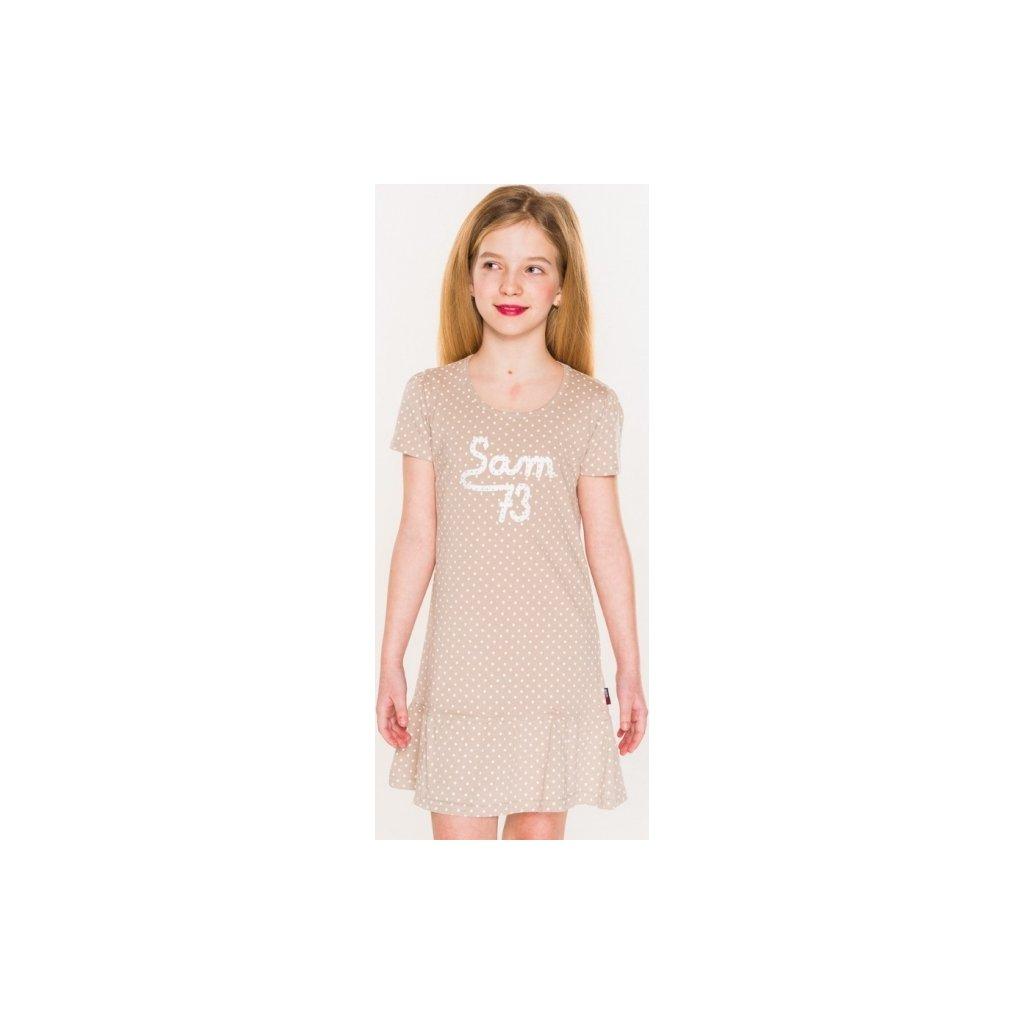 Dívčí šaty SAM 73 béžová