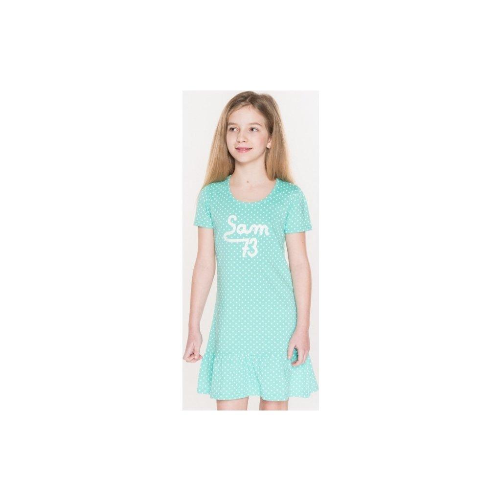 Dívčí šaty SAM 73  zelená