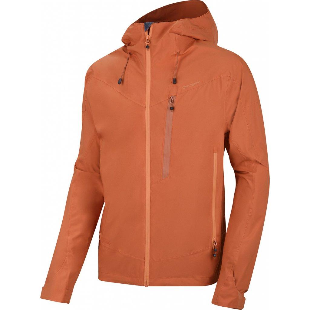 Pánská hardshellová bunda HUSKY  Noster M tm. oranžová