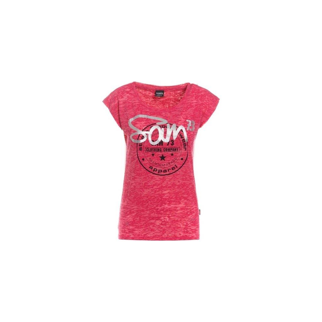 Dámské triko s krátkým rukávem SAM 73 malinová