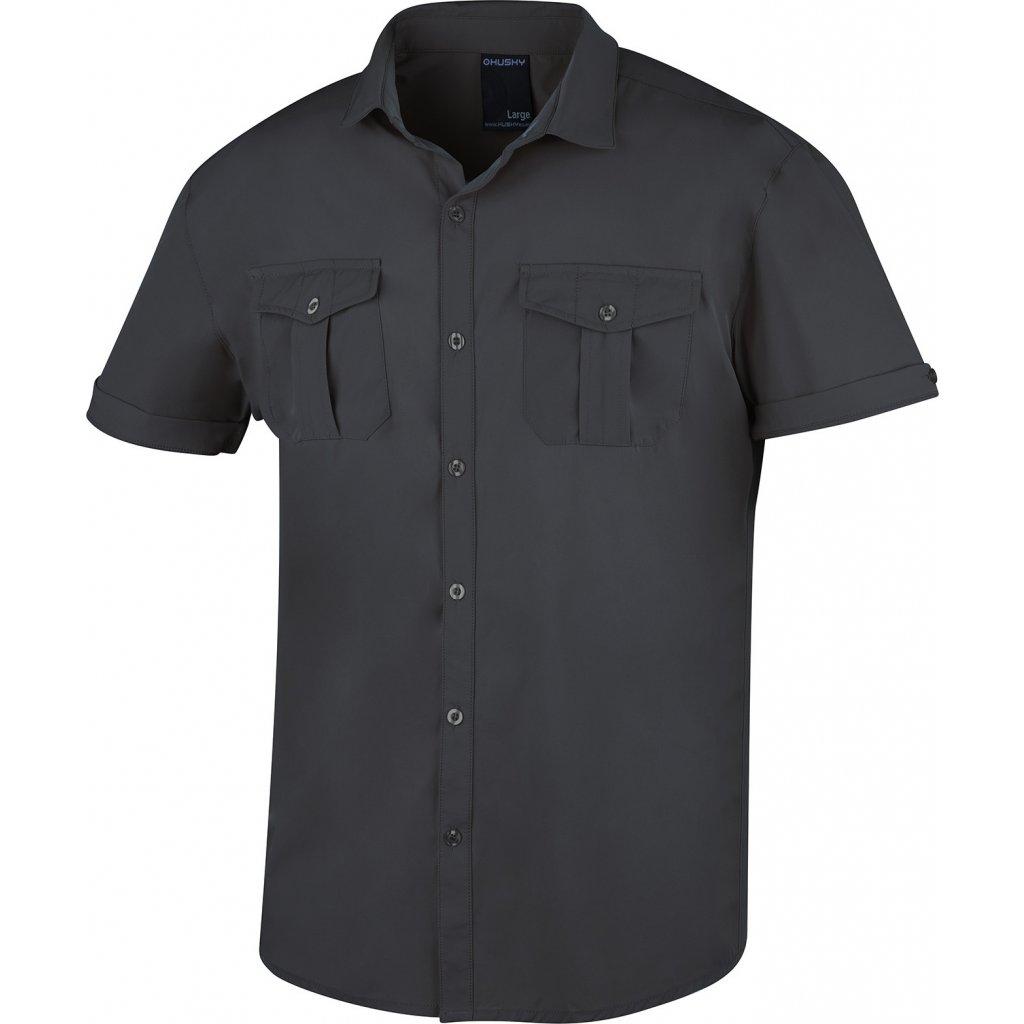 Pánská košile HUSKY Gomy tm. šedá