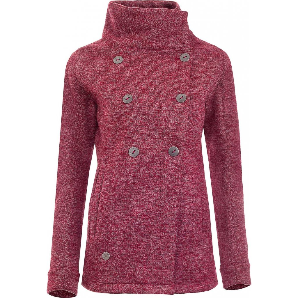 Dámský kabátek WOOX Woolshell Vellon Concha Merlot Chica