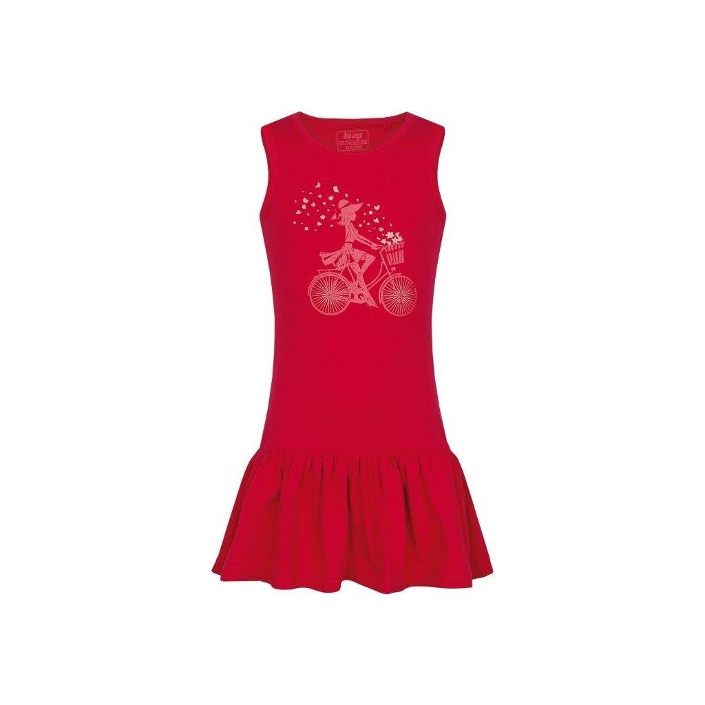 Dívčí šaty LOAP Brona růžová