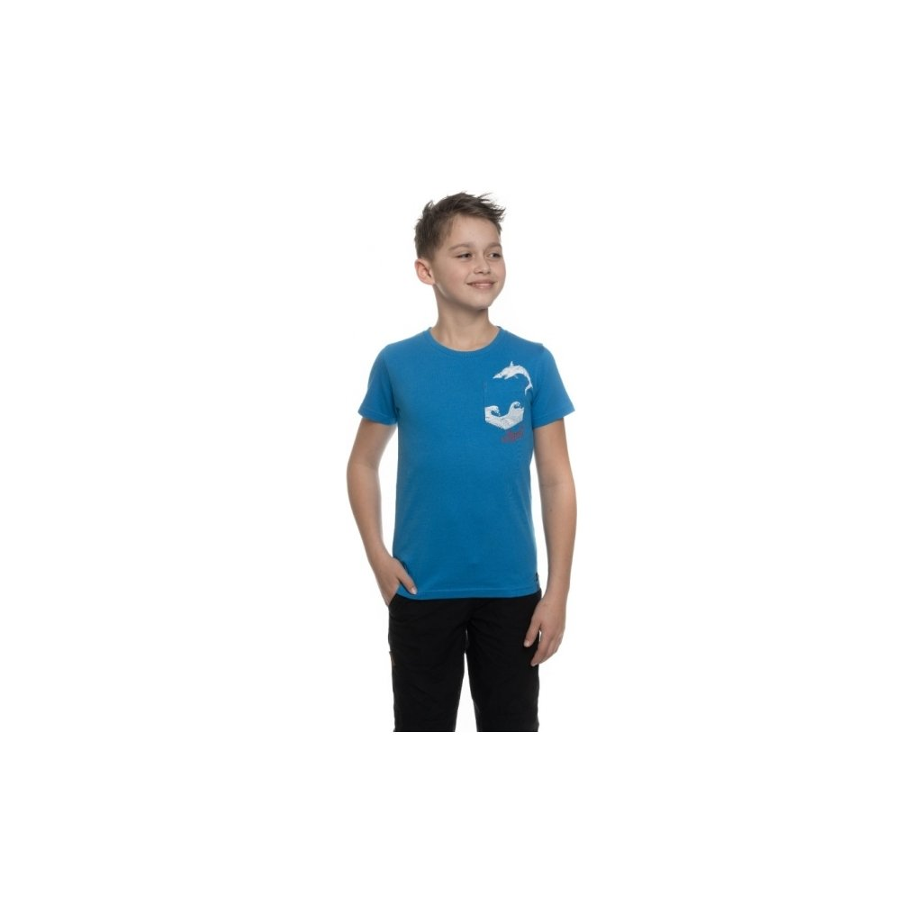 Chlapecké triko SAM 73 s krátkým rukávem modrá