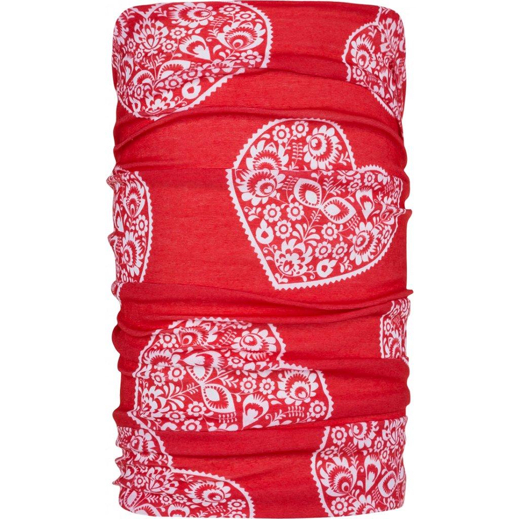 Šátek ZAJO Unitube rudá