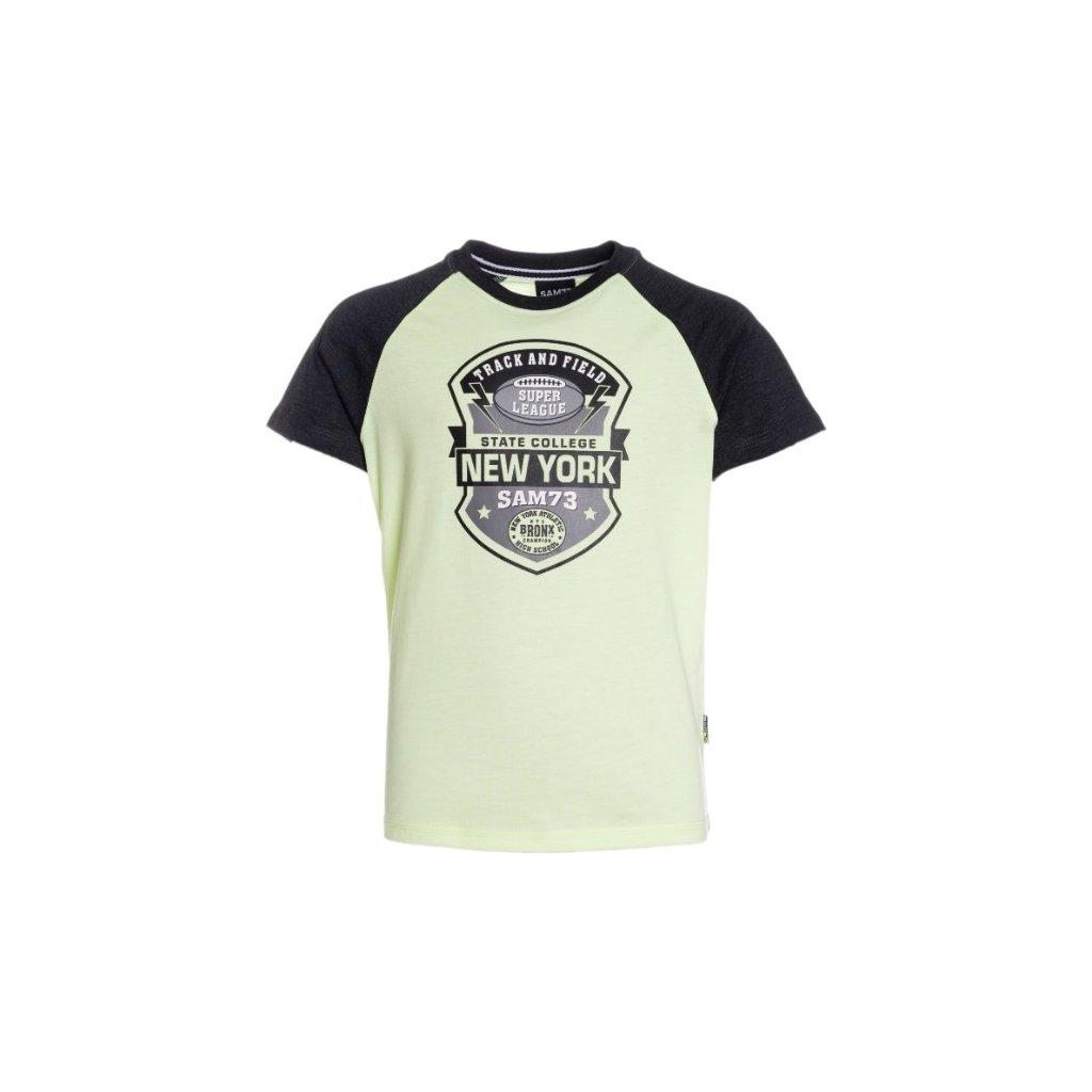 Chlapecké triko s krátkým rukávem SAM 73 žlutá