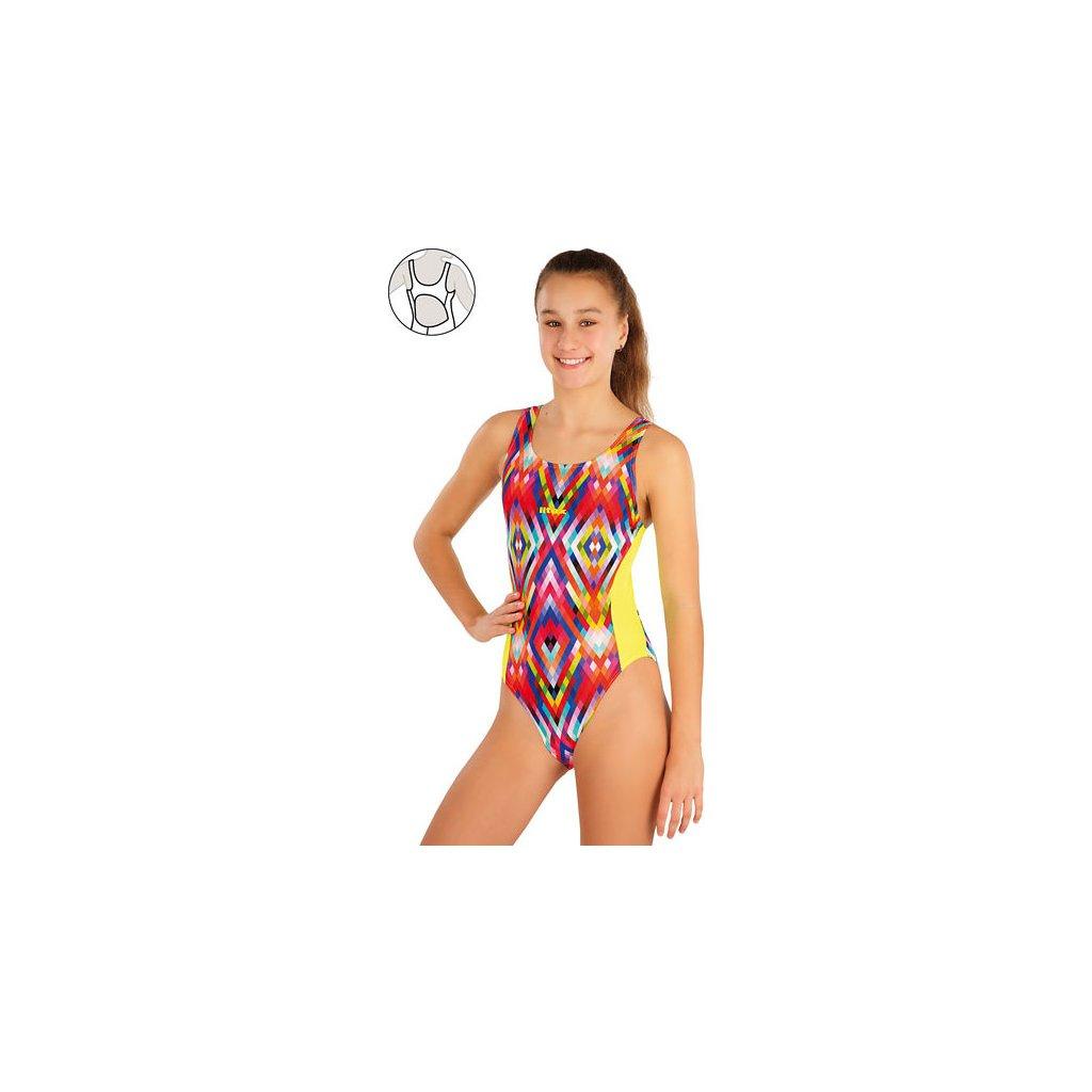 Dívčí jednodílné sportovní plavky LITEX