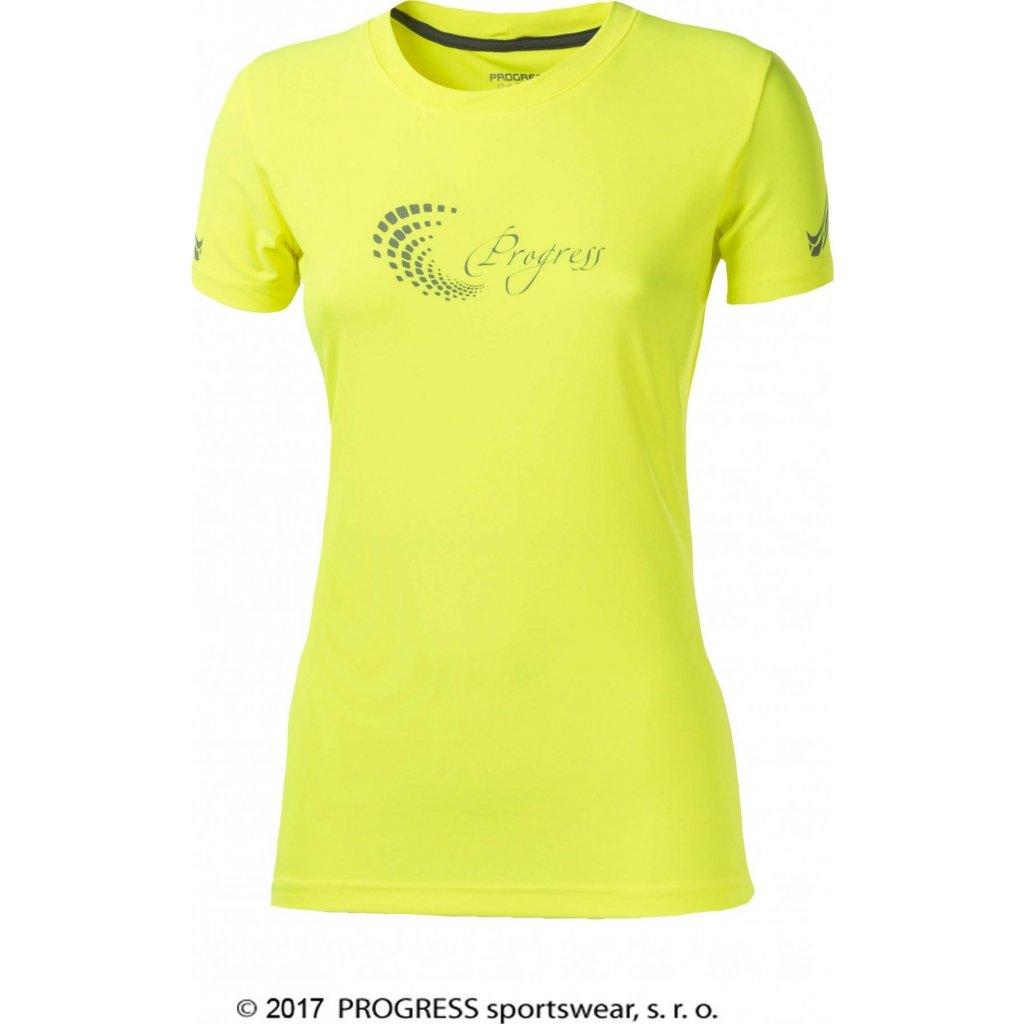 Dámské sportovní tričko PROGRESS Pantera HI-VIZ