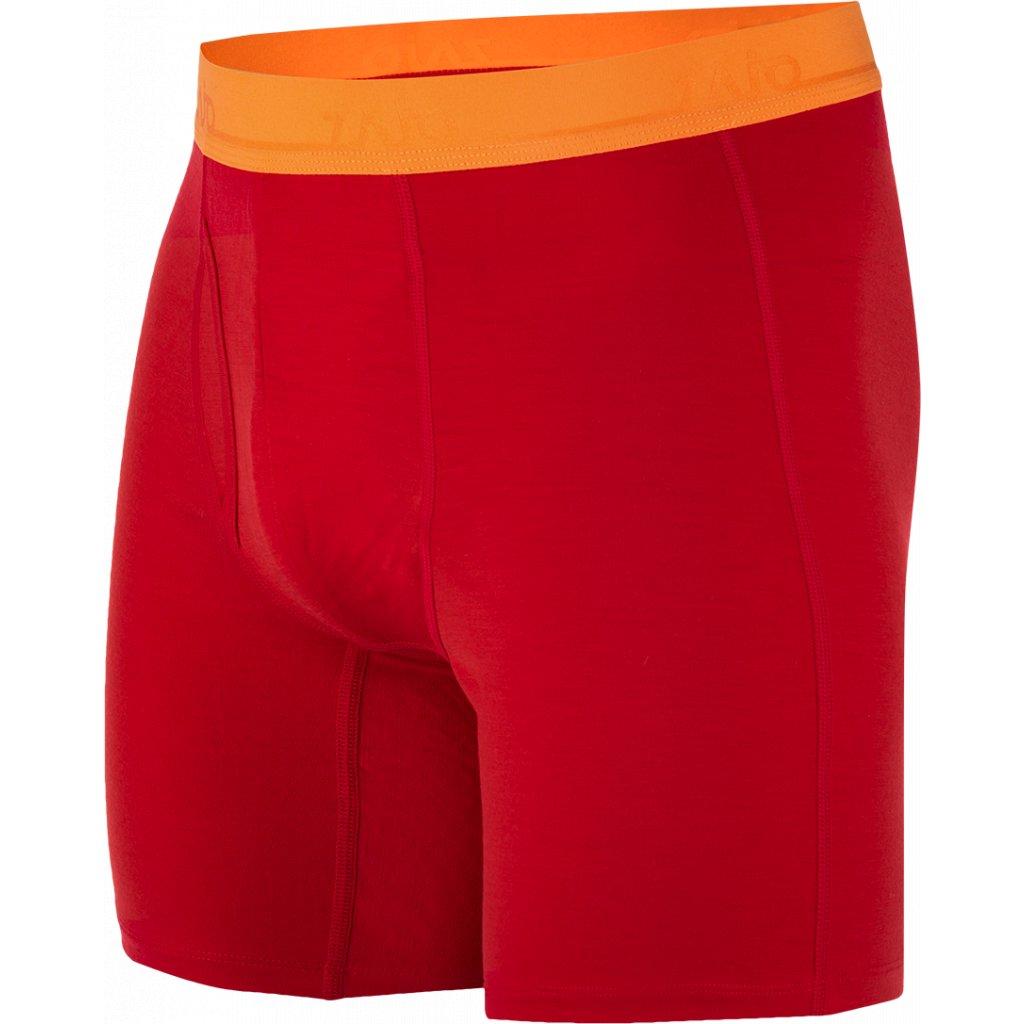Pánské trenky ZAJO Bjorn Merino Shorts rudá