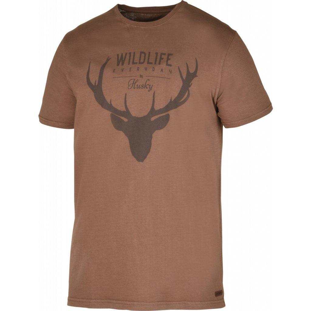 Pánské triko HUSKY  Deer M hnědá