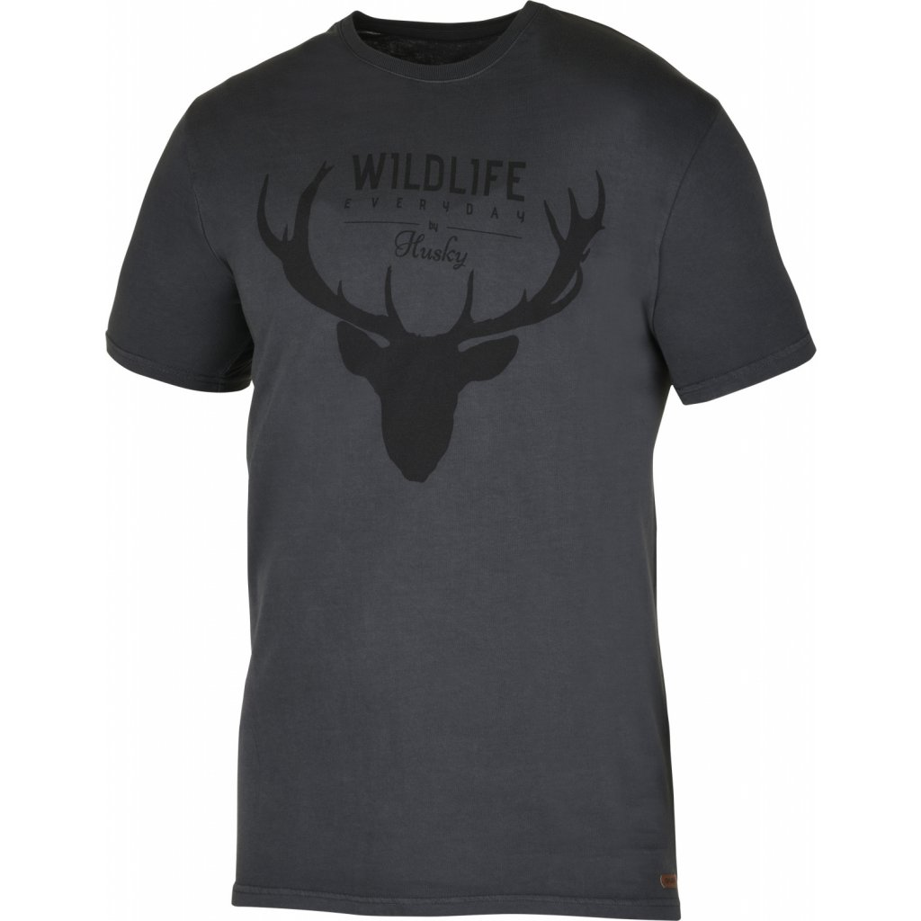 Pánské triko HUSKY  Deer M černý mentol