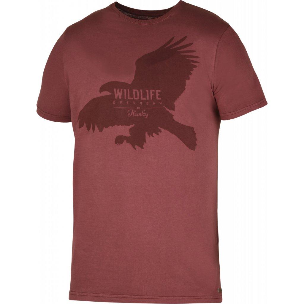 Pánské triko HUSKY  Eagle M tm. cihlová
